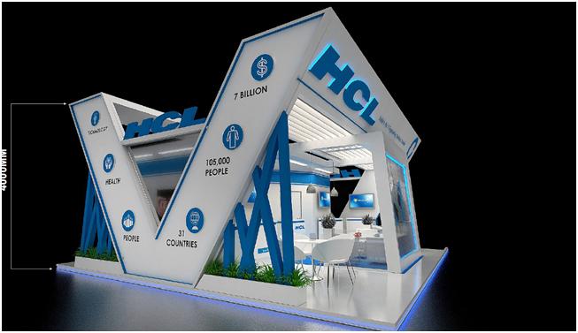 Exhibit Stand Design in Farnborough International Airshow